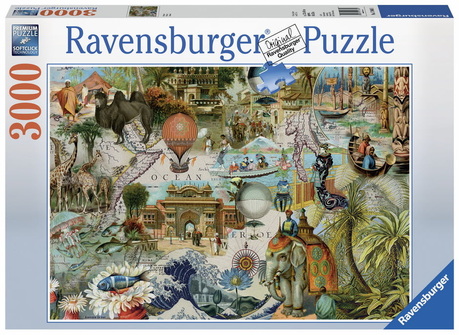 jigsaw puzzle oceania 3000 piece by ravensburger. Black Bedroom Furniture Sets. Home Design Ideas
