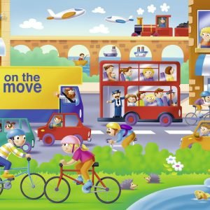 On the Move 16 PC Jigsaw Puzzle