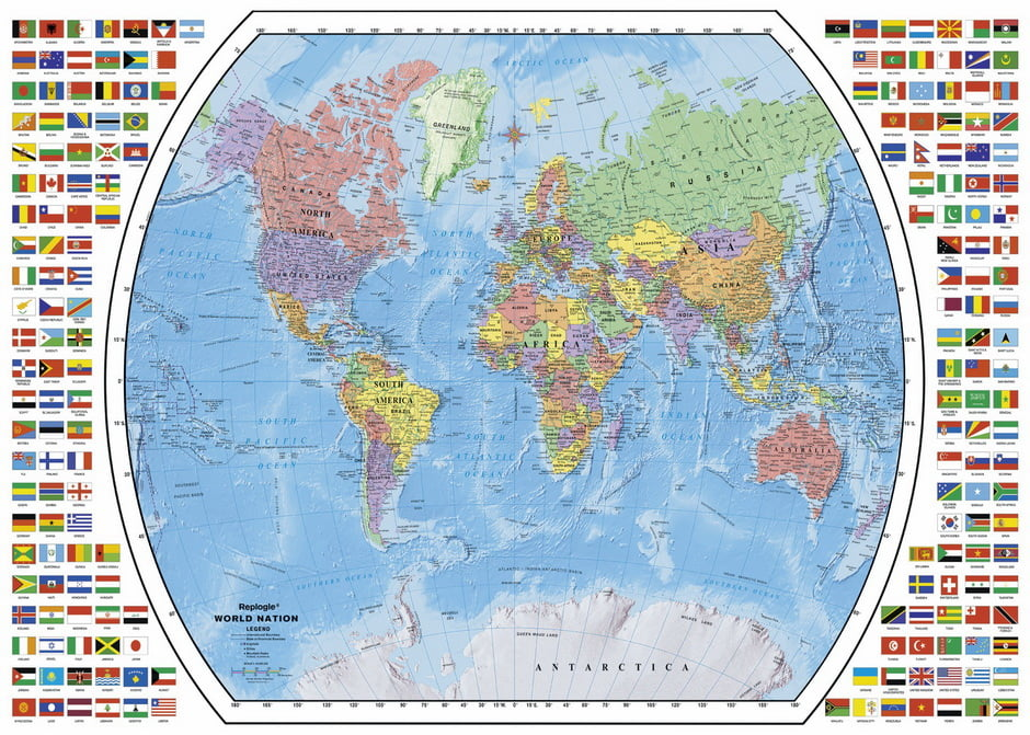 Ravensburger 1000 pc jigsaw puzzle puzzle palace political world map 1000 pc jigsaw puzzle gumiabroncs Images