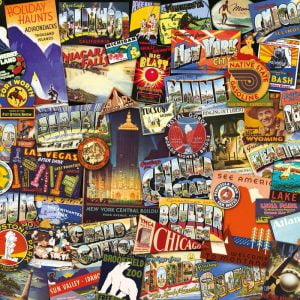 Road Trip Puzzle USA 1000 PC Jigsaw Puzzle