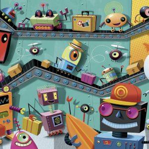 Robots 100 PC Jigsaw Puzzle