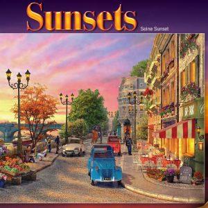 Seine Sunset 1000 Piece Jigsaw Puzzle