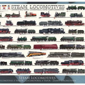 Steam Locomotives 1000 Piece Jigsaw Puzzle