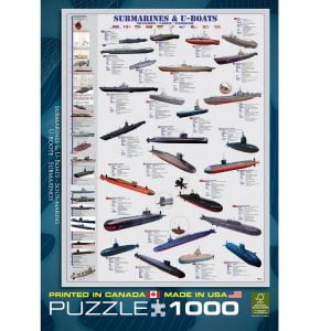 Submarines & U-Boats 1000 Piece Jigsaw Puzzle