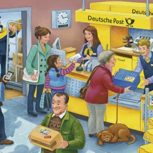 The Busy Post Office 2 x 24 PC Jigsaw Puzzle