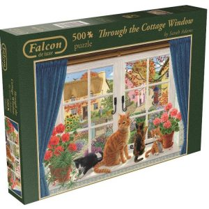 Through the Cottage Window 500 PC Jigsaw Puzzle