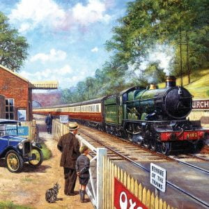 Trainspotting with Grandpa 1000 PC Jigsaw Puzzle