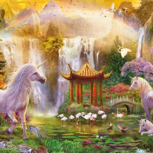 Unicorn Valley of the Waterfalls 500 Piece Educa Puzzle