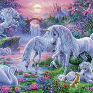 Unicorns at Sunset 150 PC Ravensburger Jigsaw Puzzle