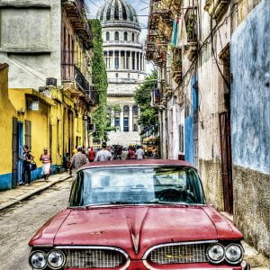 Vintage Car in Old Havana 1000 PC Jigsaw Puzzle