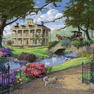 Visiting the Mansion 500 PC Jigsaw Puzzle