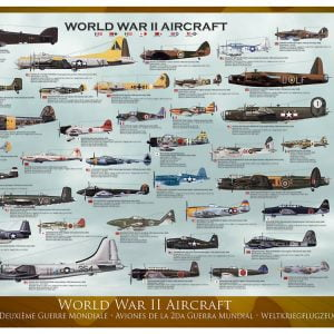 WWII Aircraft 1000 PC Jigsaw Puzzle