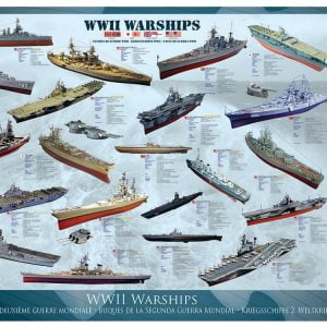 WWII Warships 1000 PC Jigsaw Puzzle