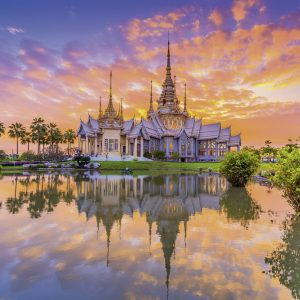 Wat Thai Temple Sunset 500 PC Jigsaw Puzzle