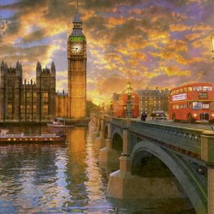 Westminster Sunset 1000 PC Jigsaw Puzzle