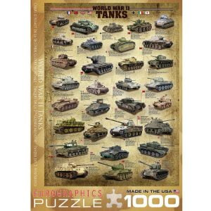 World War II Tanks 1000 PC Jigsaw Puzzle