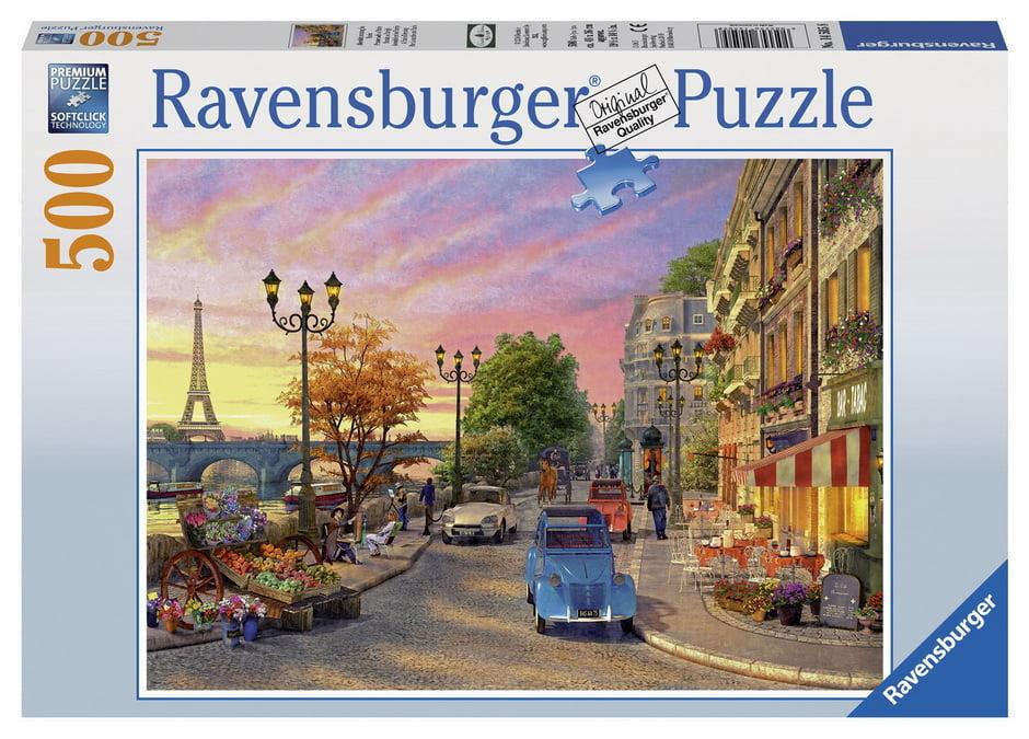 a paris evening 500 piece ravensburger jigsaw puzzle. Black Bedroom Furniture Sets. Home Design Ideas