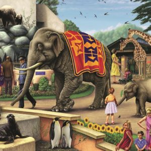A day At the Zoo 1000 PC Jigsaw Puzzle