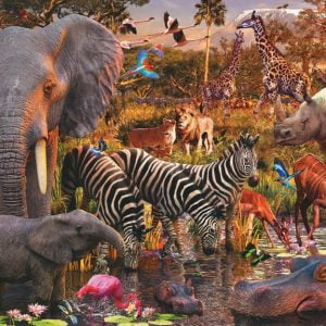 African Animal World Puzzle