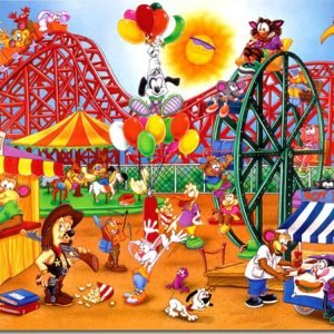 Amusement Park 24 PC Jigsaw Puzzle