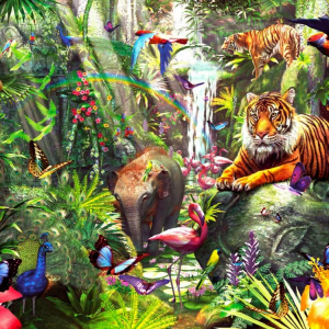 Asian Rainforest 1000 PC Jigsaw Puzzle