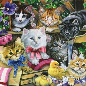 Bathtime Kittens 260 PC Jigsaw Puzzle