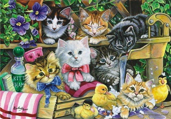 Bathtime Kittens 260 PC Jigsaw Puzzle