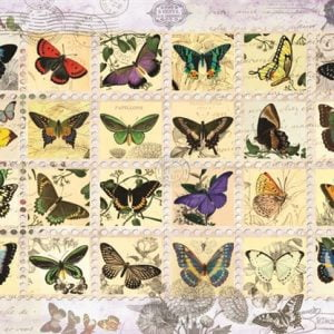 Butterfly Stamps 500 PC Jigsaw Puzzle