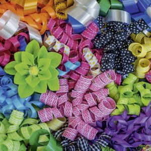Colourful Ribbons 500 PC Jigsaw Puzzle