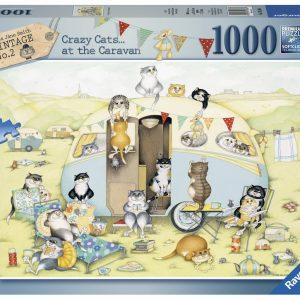 Crazy Cats Caravan 1000 PC Jigsaw Puzzle