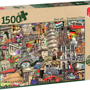 European Cities 1500 PC Jigsaw Puzzle
