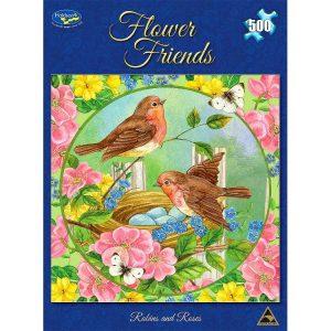 Flower Friends 500 PC Jigsaw Puzzle