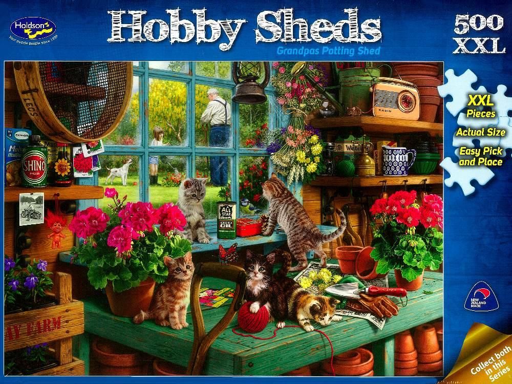 Jigsaw Puzzle Hobby Sheds Grandpas Potting Shed 500 Xxl