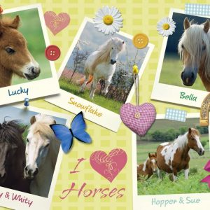 Horses Collage 300 XXL PC Jigsaw Puzzle