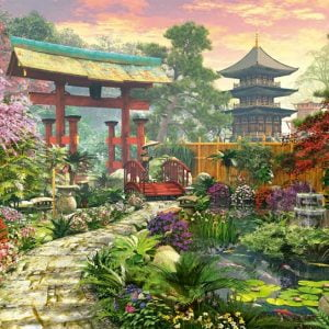 Japanese Garden 1000 PC Jigsaw Puzzle