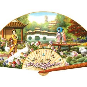 Japanese Garden 1000 PC Shaped Jigsaw Puzzle