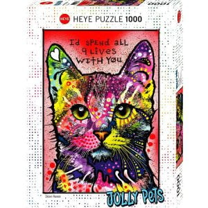 Jolly Pets 9 Lives 1000 PC Jigsaw Puzzle