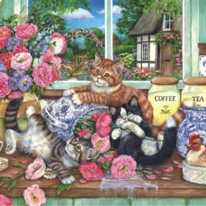 Kittens in the Kitchen 500 PC Jigsaw Puzzle