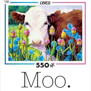 Moo In Blue Sailors & Teasel 550 PC Jigsaw Puzzle