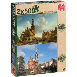 Munttoren Amsterdam 2 x 500 PC Jigsaw Puzzle