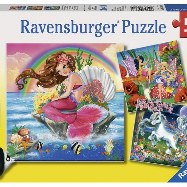 Mythical Creatures 3 x 49 PC Jigsaw Puzzle