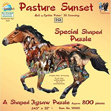 Pasture Sunset 800 PC Jigsaw Puzzle