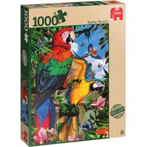 Pretty Parrots 1000 PC Jigsaw Puzzle