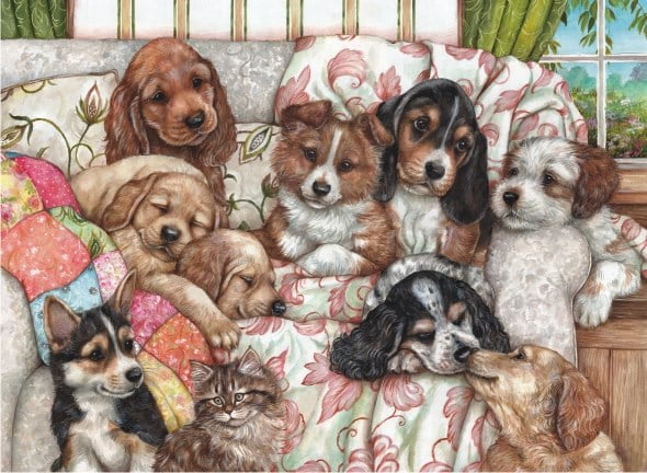 Jigsaw Puzzle Puppies 1000 Pc Puzzle Palace Aust