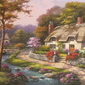 Spring Cottage 500 PC Jigsaw Puzzle
