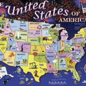 Statemap 100 XXL PC Jigsaw Puzzle