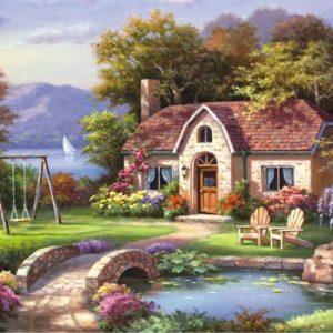 Stone Bridge Cottage 2000 PC Jigsaw Puzzle