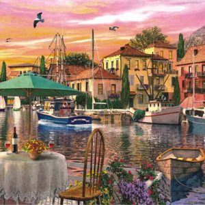 Sunset Harbour 3000 PC Jigsaw Puzzle
