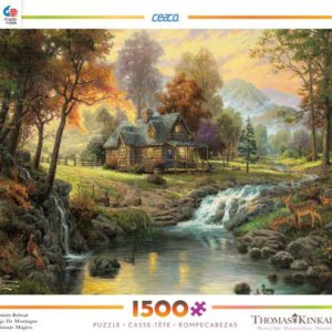 Thomas Kinkade Mountain Retreat 1500 PC Jigsaw Puzzle