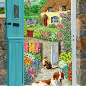 Through the Cottage Door 500 PC Jigsaw Puzzle